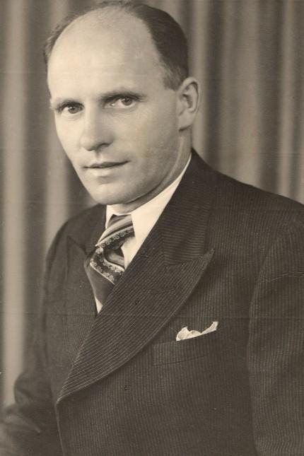 Georg Scherer, ehemaliger KZ-Häftling und Vorsitzender des ASV Dachau