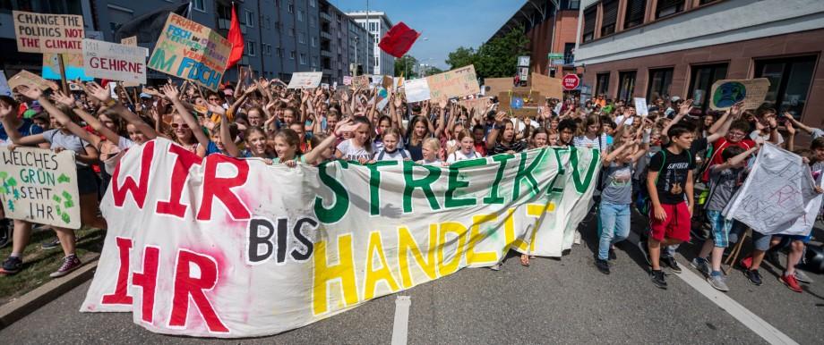 Fridays for Future Demonstration in Freiburg