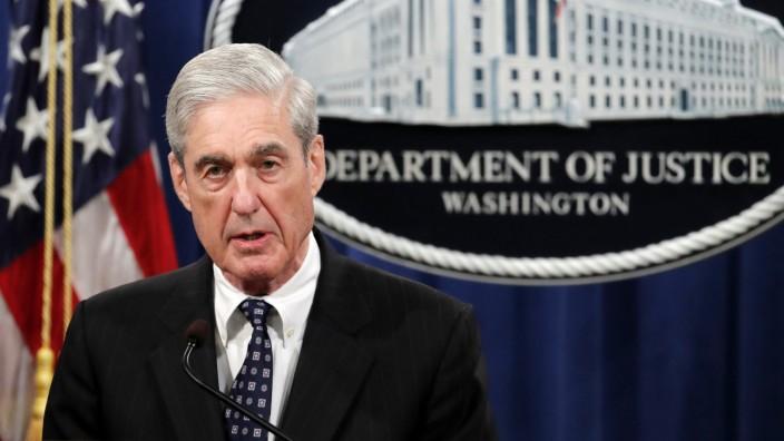 Robert Mueller spricht im Justizministerium