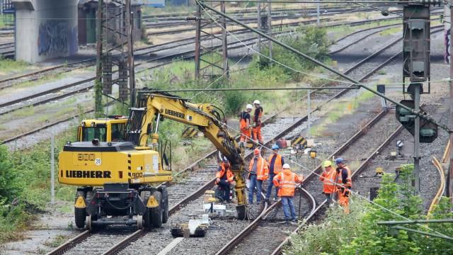 Sanierung Bahnschienen