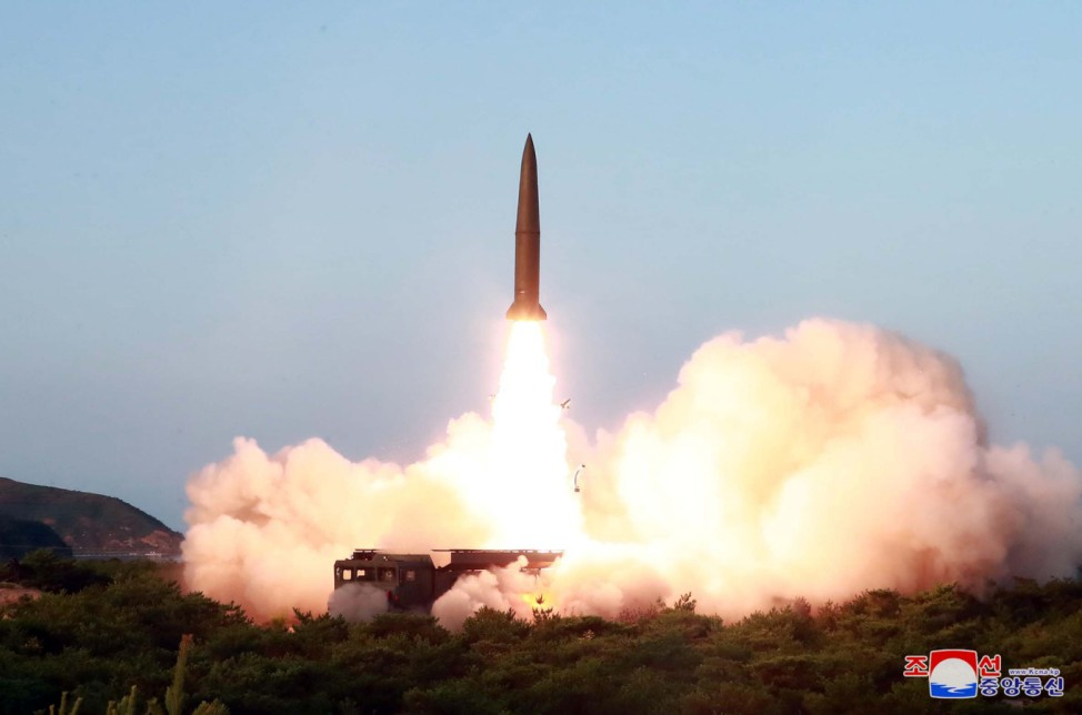 A view of North Korea's missile launch