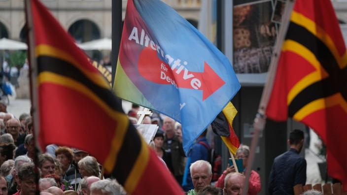 Pegida Gathering Coincides With Merkel Visit