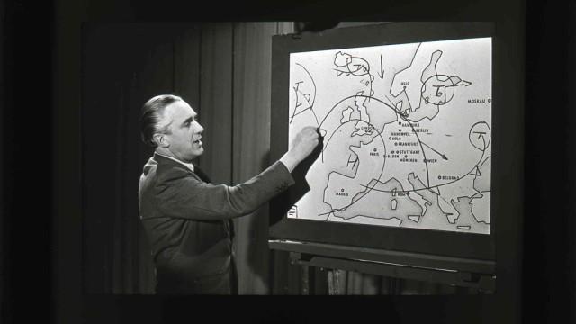 historische TV Wetterkarte, Dr. Gerd Roediger