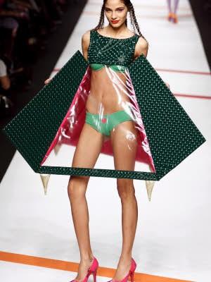 Mailand; Laufsteg; magere Models; dpa