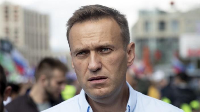 Russland - Alexej Nawalny auf einer Demonstration in Moskau