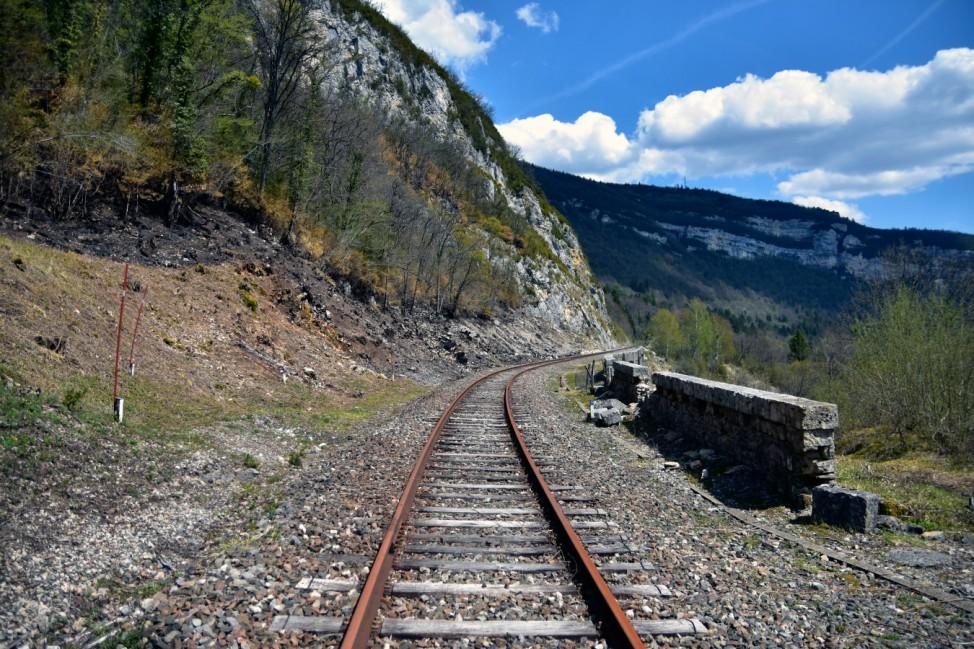 Reisefotograf Christian Jobst Frankreich Gleise stillgelegt Schienen Bahn Wandern;