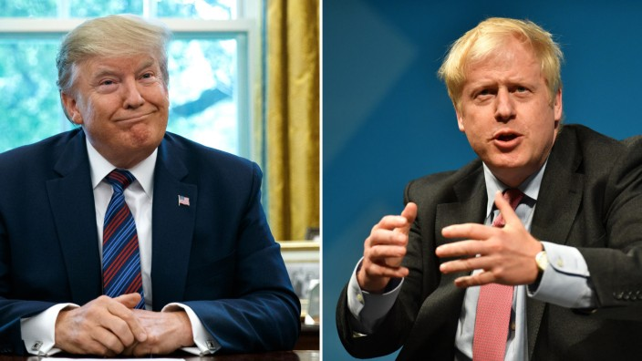 US-Präsident Donald Trump, UK-Premierminister Boris Johnson
