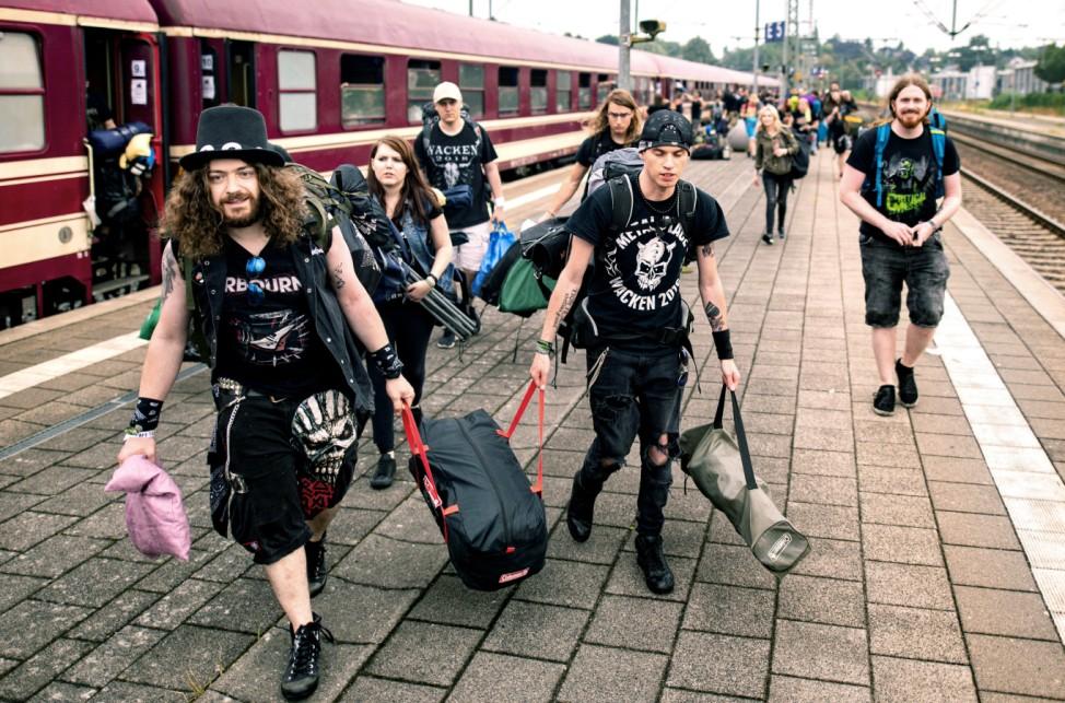 Auftakt Wacken-Festival - Metal Train