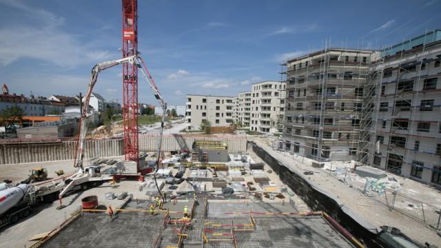 Baustelle an der ehemaligen Kuvertfabrik in München Pasing, 2019
