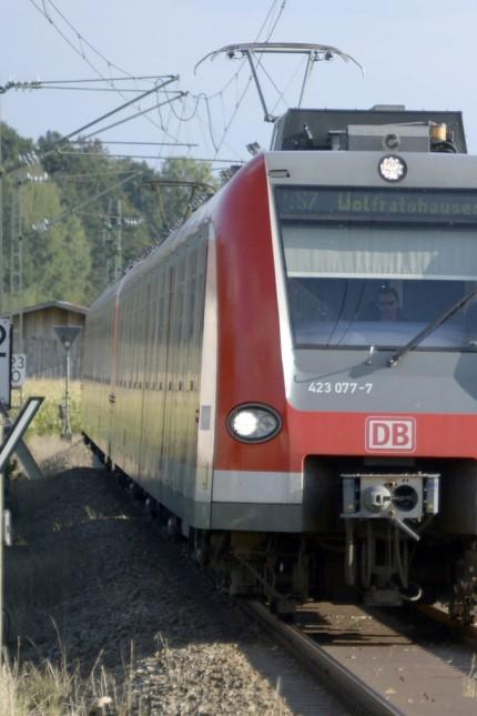 S-Bahn München: Auf der Strecke der S 7 gibt es nur ein Gleis.