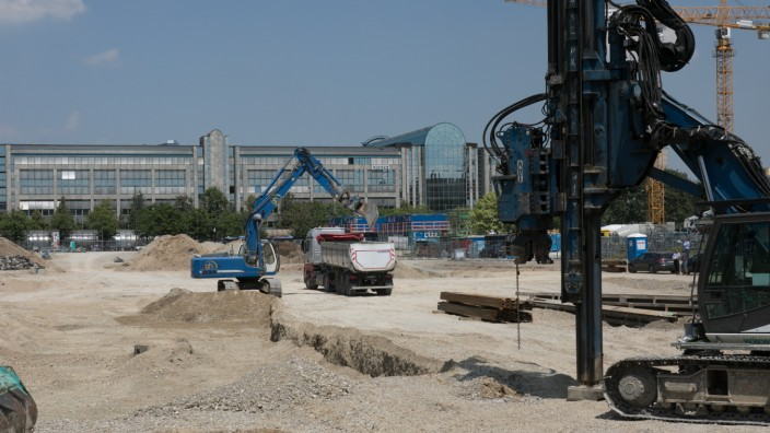 Baustelle Hanns-Seidel-Platz, Neuperlach