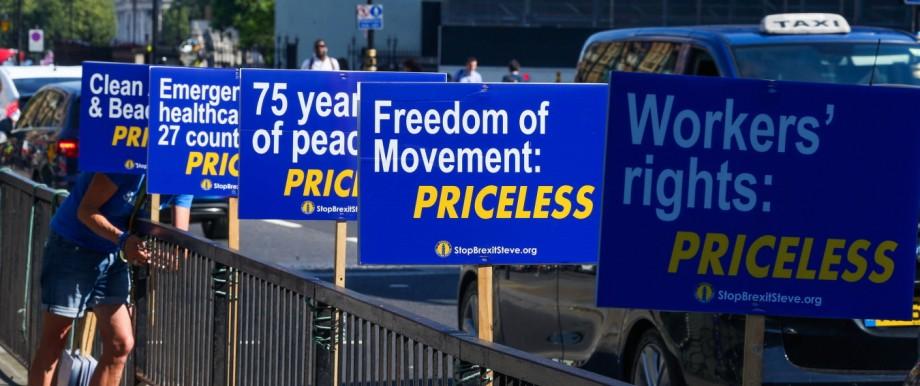 """Angst vor """"No Deal"""": Unbezahlbare Vorteile: Den Briten scheint langsam bewusst zu werden, was sie mit einem EU-Austritt verlieren."""