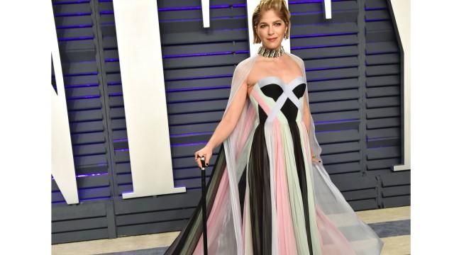 Selma Blair arriving at the Vanity Fair Oscar Party in Beverly Hills California Feb 24 2019 Va