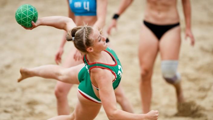 Beachhandball EM in Polen KIRßLY Réka 32 during the Beach Handball EURO 2019 women s game gol