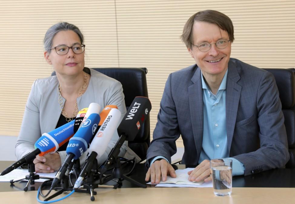 Nina Scheer und Karl Lauterbach, Bewerber um den SPD-Vorsitz