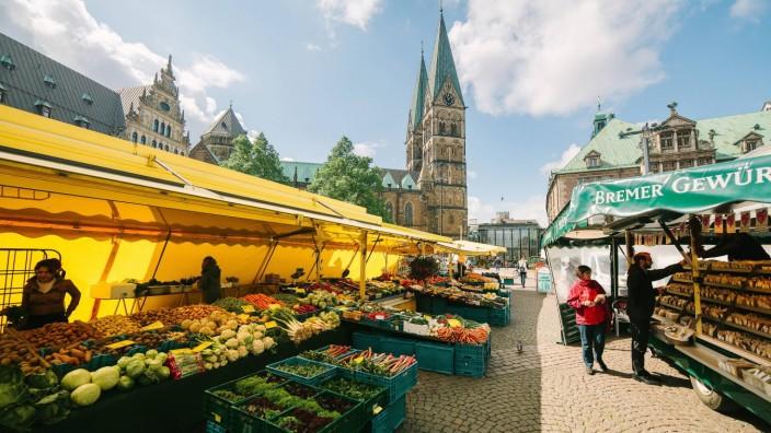 Domshof Wochenmarkt Bremen