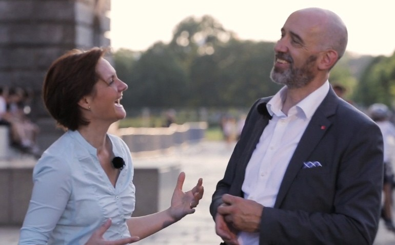 Simone Lange und Alexander Ahrens bewerben sich um den SPD-Vorsitz.