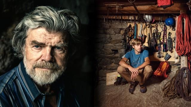 Reinhold Messner und Simon Messner