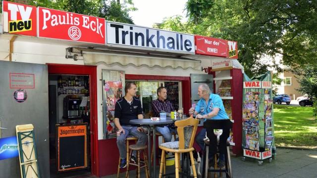 Kiosk Pauls Eck in Essen Altenessen Blick auf den Kiosk Kioske im Ruhrgebiet