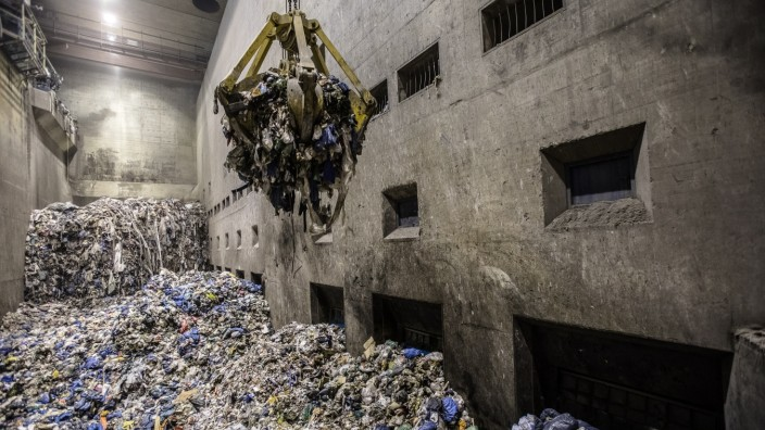 Die städtische Müllentsorgung in München.