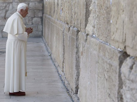 Papst, Klagemauer, betet, Gebet, Israel, Jerusalem