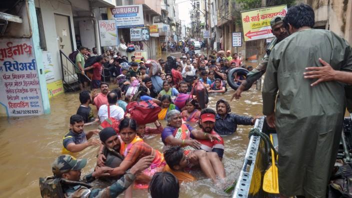 IDMC-Bericht 2019: Überflutungen in Sangli, Indien, nach schwerem Monsunregen.