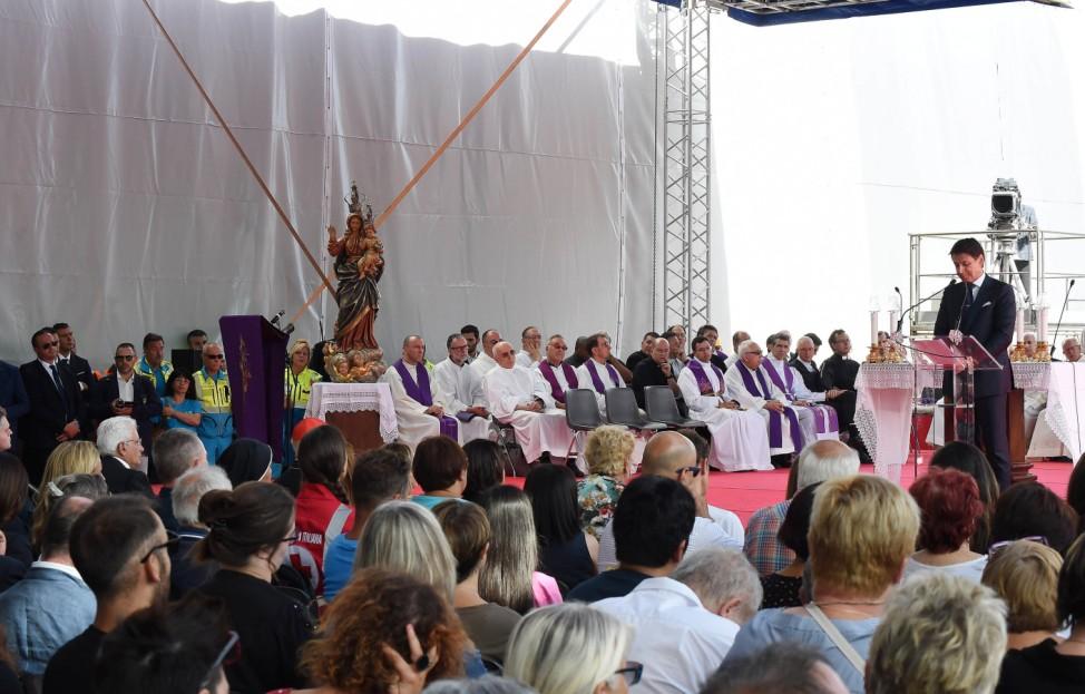 Genua gedenkt der Opfer des Brückeneinsturzes