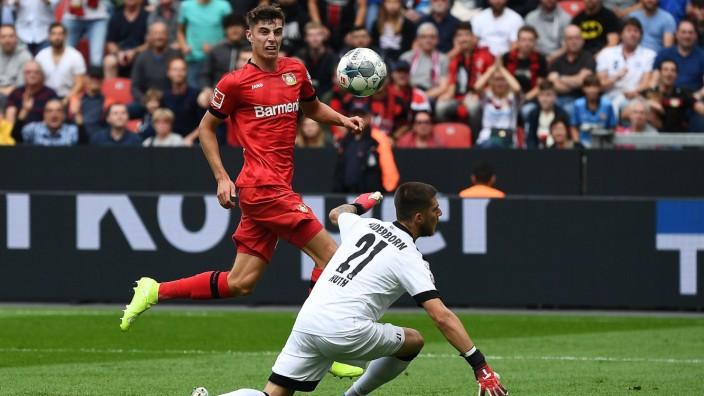 17 08 2019 xjhx Fussball 1 Bundesliga Bayer 04 Leverkusen SC Paderborn 07 emspor v l Kai Hav