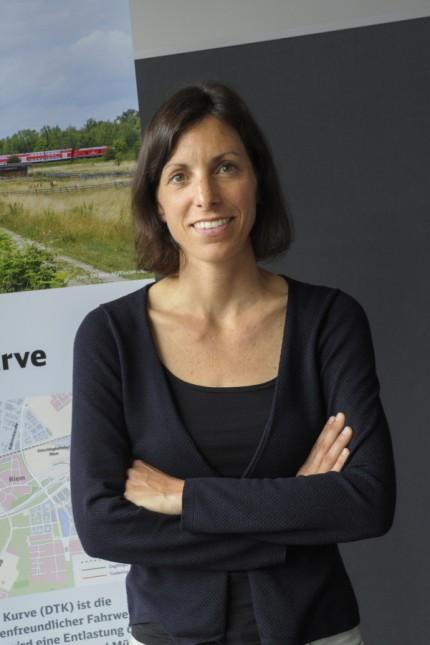 Bahnausbau: Projektleiterin Susanne Müller verteidigt die Pläne der Bahn.
