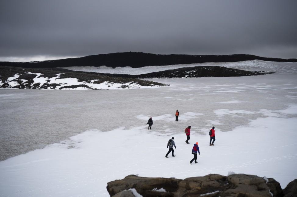 Isländischer Gletscher Okjökull
