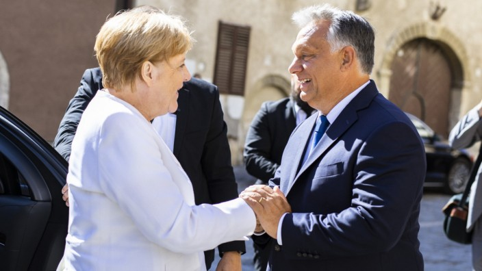 Angela Merkel, Viktor Orban, Sopron