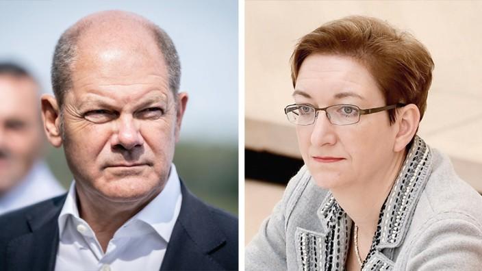 Spd Vorsitz Olaf Scholz Tritt Mit Klara Geywitz An Politik Sz De