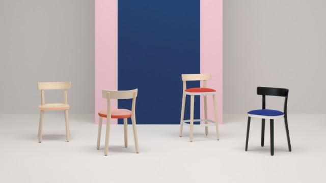 """Stuhl """"Folk"""" und Monica Pedrali"""