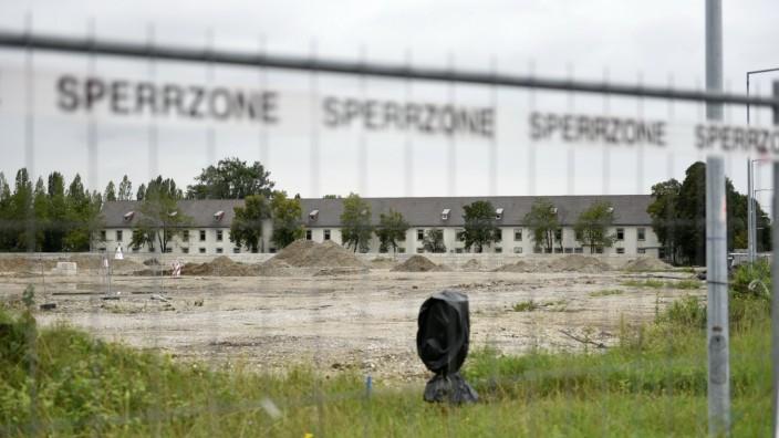 Wohnen in München: Das Abbruchmaterial aus der Baufeldfreimachung der Kaserne wird zu neuem Baumaterial verarbeitet.