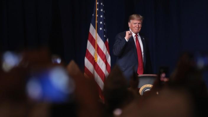 President Trump Addresses American Veterans 75th National Convention