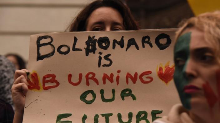 Waldbrände am Amazonas - Protest in Brasilien