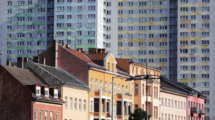 Wohnblöcke an der Frankfurter Allee