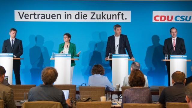 Abschluss der gemeinsamen Klausur von CDU und CSU