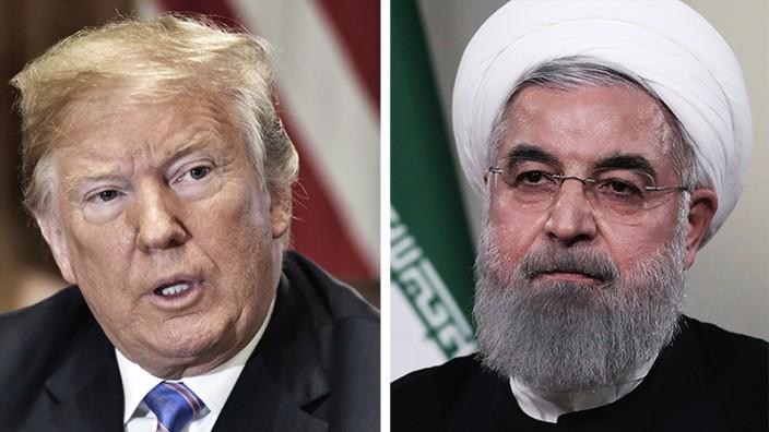 USA und Iran: US-Präsident Donald Trump und Irans Präsident Hassan Rohani