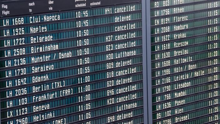 Terminalbereich am Münchner Flughafen - Abfertigung läuft wieder