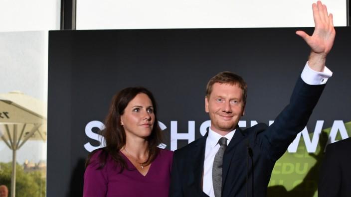 Landtagswahl Sachsen Michael Kretschmer Annett Hofmann