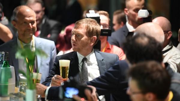 Landtagswahl Sachsen 2019 - Michael Kretschmer bei der CDU-Wahlparty