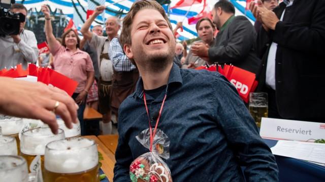 Beim Gillamoos 2019 in Abensberg tritt für die SPD Kevin Kühnert beim politischen Frühschoppen auf.