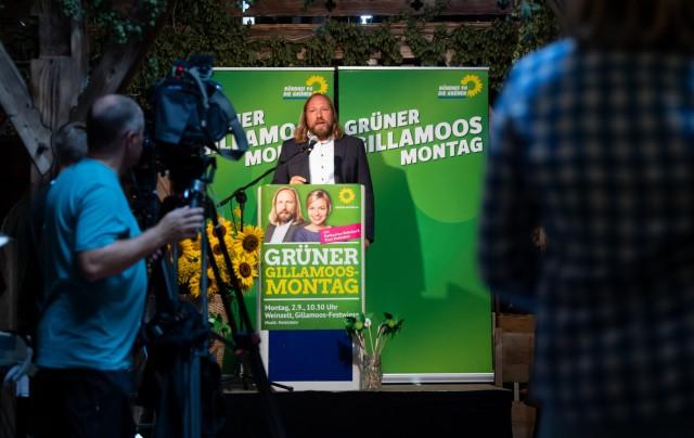 Politischer Frühschoppen auf Volksfest Gillamoos - Grüne