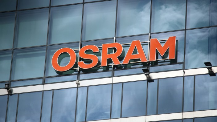 FILE PHOTO: The headquarters of lamp manufacturer Osram is pictured in Munich