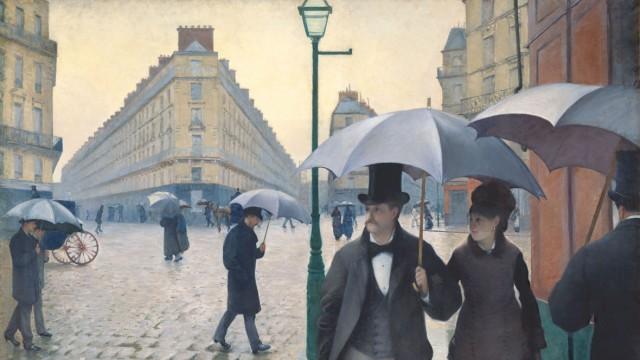 Straße in Paris an einem regnerischen Tag (Rue de Paris, temps de pluie), 1877: von Gustave Caillebotte