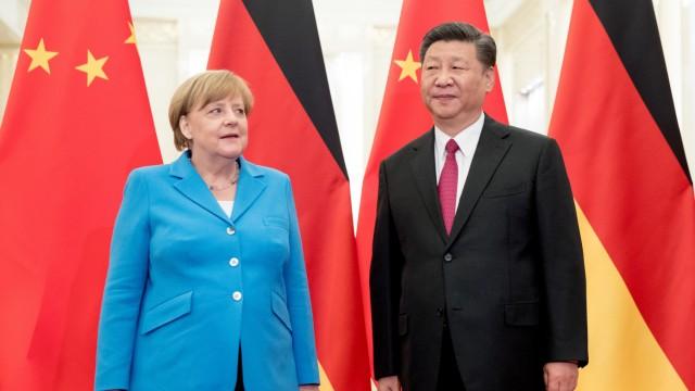 Merkel und Xi Jinping