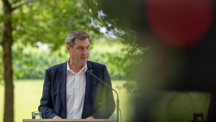 CSU-Chef Markus Söder nach einer Kabinettssitzung im Münchner Hofgarten