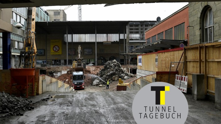 Bau zweite Stammstrecke S-Bahn München Abriss Hauptbahnhof