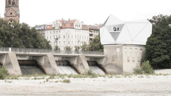 Der Entwurf für ein Museum an der Isar vom Münchner Architekt Clemens Bachmann.